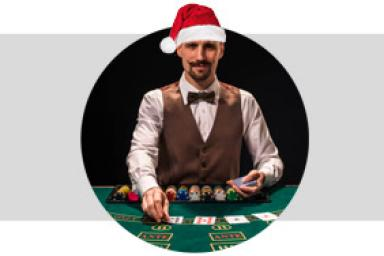 Noël est célébré chez tous les meilleurs fournisseurs blackjack live !