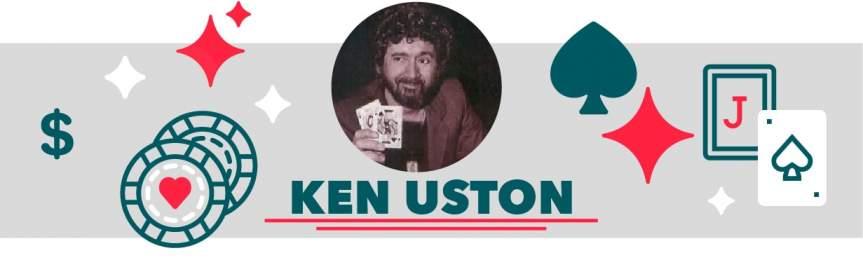 Ken Uston pendant une partie de blackjack dans un casino